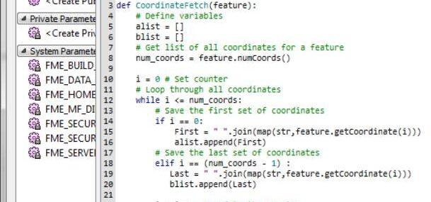 FME python scripting